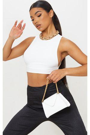 PRETTYLITTLETHING Mini Envelope Gold Chain Grab Bag