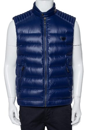 Prada Navy Synthetic Quilted Sleeveless Vest XL