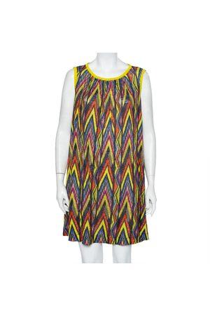M Missoni Printed Linen Sleeveless Oversized Shift Dress S