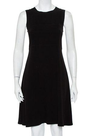 Joseph Crepe Paneled Sleeveless Midi Dress M