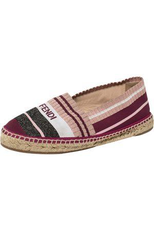 Fendi Stretch Fabric Espadrille Flats Size 37.5