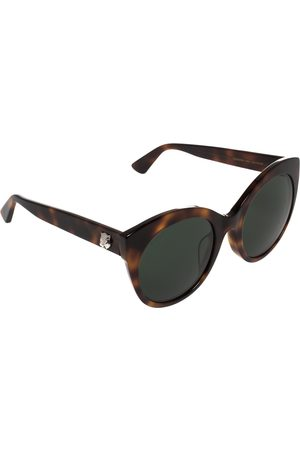 Gucci Brown Tortoise GG0028SA Round Sunglasses