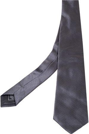 BRIONI Dark Grey Jacquard Patterned Silk Tie