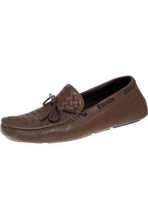 Bottega Veneta Intrecciato Leather Bow Slip On Loafers Size 43