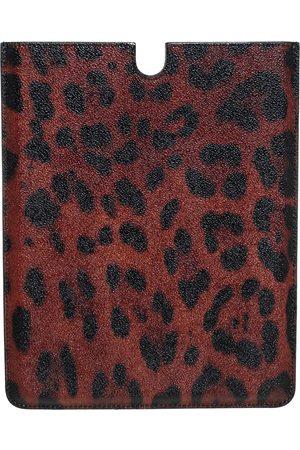Dolce & Gabbana /Brown Leopard Print Coated Canvas iPad 2 Case