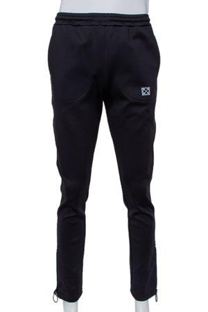 OFF-WHITE Knit Zipper Hem Detail Slim Fit Track Pants M
