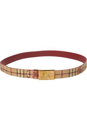 Burberry /Red Haymarket PVC Plaque Belt 100CM