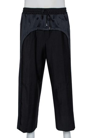 Burberry Wool & Mohair Band Trim Detail Track Pants L