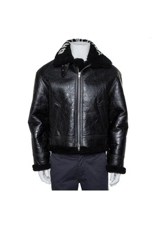 Balenciaga Leather Faux Fur Lined Collared Jacket S