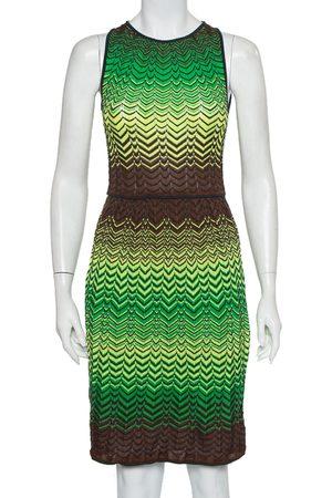 M Missoni Wave Patterned Knit Sleeveless Midi Dress S