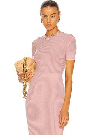 Alix NYC Ridge Novelty Knit Bodysuit in Pink