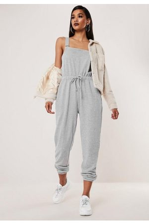 Missguided Dungarees Jersey Jogger Cuff Romper