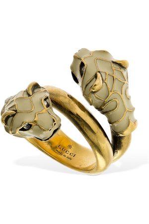 Gucci Women Rings - Double Feline Head Spoon Ring