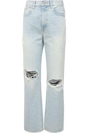 SLVRLAKE London Ankle High Waist Straight Jeans