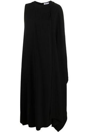 AMBUSH Asymmetric draped cape dress