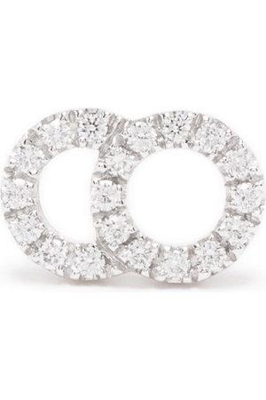 Courbet 18kt recycled white gold CELESTE small laboratory-grown diamond pavé set mono stud earring