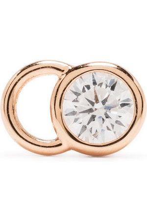 Courbet 18kt rose gold CO mono laboratory-grown diamond stud earring