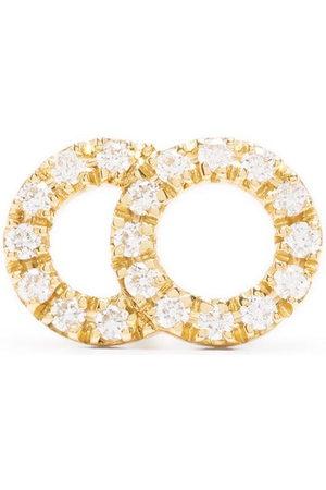 COURBET Women Studs - 18kt yellow Celeste small pavé laboratory-grown diamond set mono stud earring