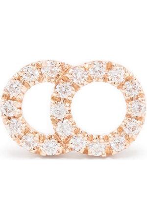 COURBET 18kt rose gold Celeste small laboratory-grown diamond pavé mono stud earring