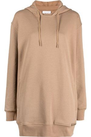 3.1 Phillip Lim Drawstring-hooded dress - Neutrals