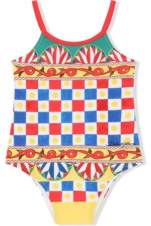 Dolce & Gabbana Geometric-print swimsuit