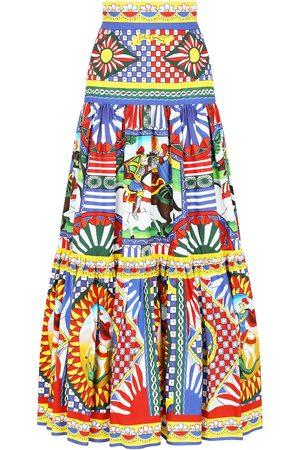 Dolce & Gabbana Women Printed Skirts - Graphic-print tiered skirt