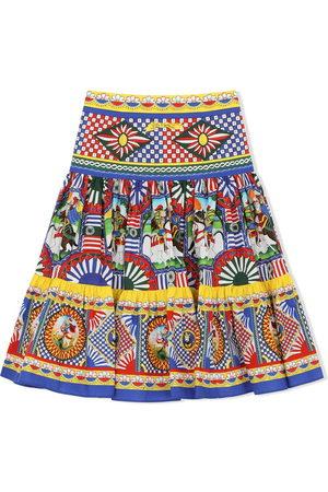 Dolce & Gabbana Girls Printed Skirts - Mixed-print skirt