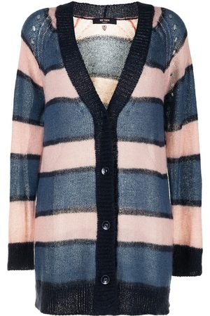 Twin-Set Women Cardigans - Striped knitted cardigan