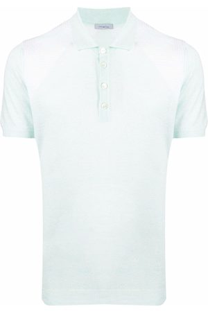 Malo Linen-blend polo shirt
