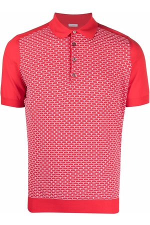 Malo Geometric-print polo shirt