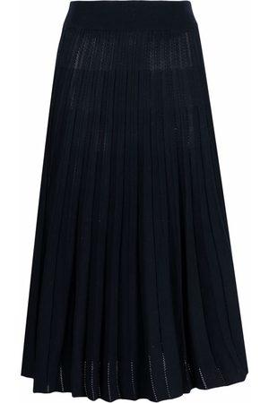 Malo High-waisted pleated midi skirt