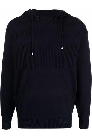 Malo Men Hoodies - Panelled knitted hoodie