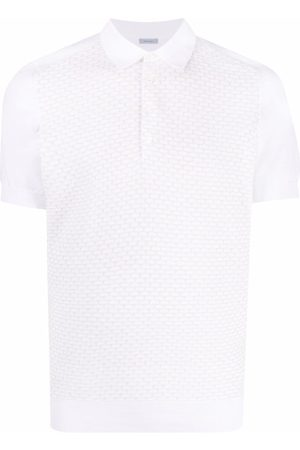 Malo Men Polo Shirts - Contrast-panel cotton polo shirt