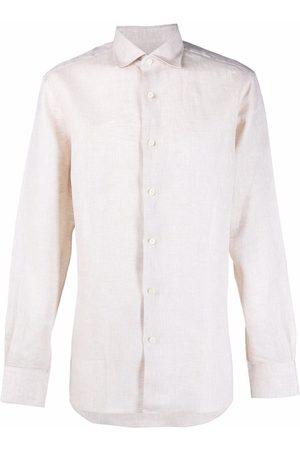 Malo Men Shirts - Button-up linen shirt - Neutrals