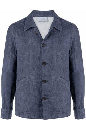 Malo Men Jackets - Collared linen jacket