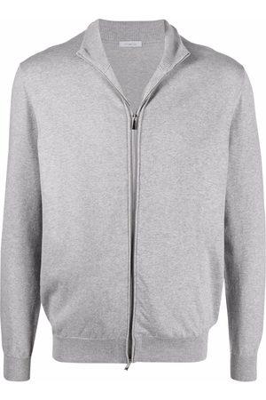 Malo Men Sweatshirts - Zip-front cotton sweatshirt - Grey
