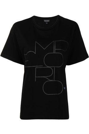 Emporio Armani Women T-shirts - Logo-print cotton T-shirt