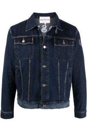 Youths in Balaclava Men Denim Jackets - Godstar print denim jacket