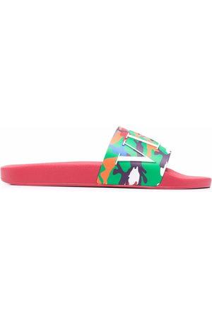 VALENTINO GARAVANI Men Sandals - Camouflage strap slides