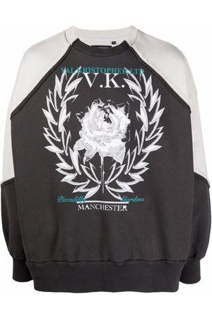 VAL KRISTOPHER Men Sweatshirts - Logo-print cotton sweatshirt - Grey