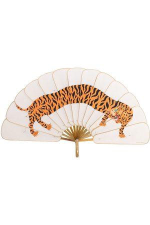 Pubumésu Macan Tiger print fan - Neutrals