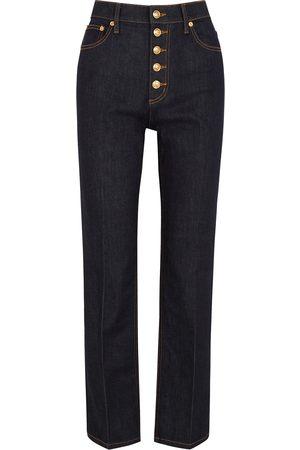 Tory Burch Indigo cropped straight-leg jeans