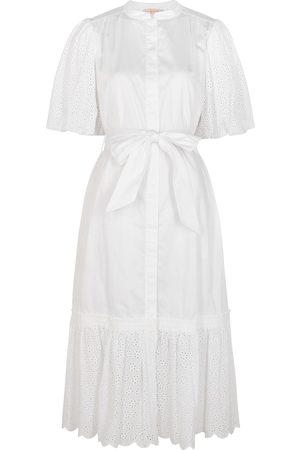 Tory Burch Broderie anglaise cotton shirt dress