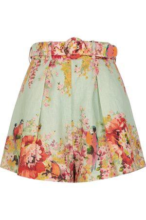 ZIMMERMANN Mae floral-print linen shorts
