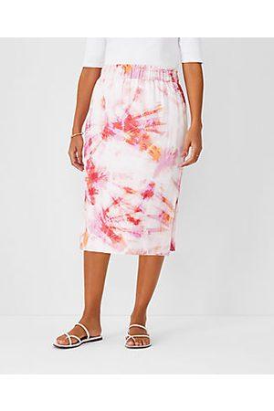 ANN TAYLOR Tie Dye Pull On Pencil Skirt - Curvy Fit