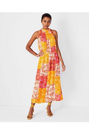 ANN TAYLOR Tall Patchwork Floral Maxi Dress