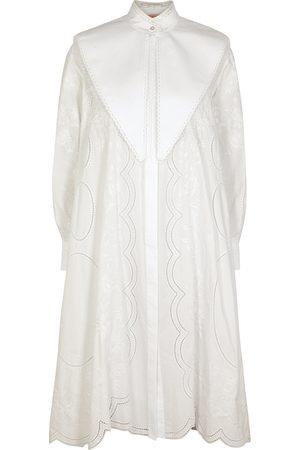 Tory Burch Embroidered cotton shirt dress