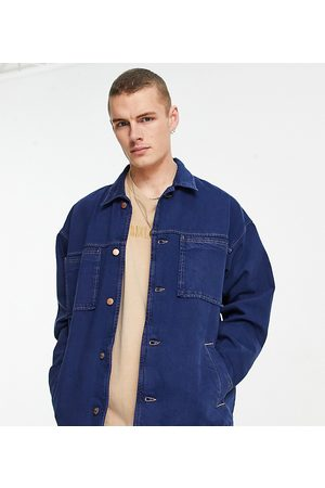 Reclaimed Vintage Inspired denim jacket in blue with pocket detail-Blues