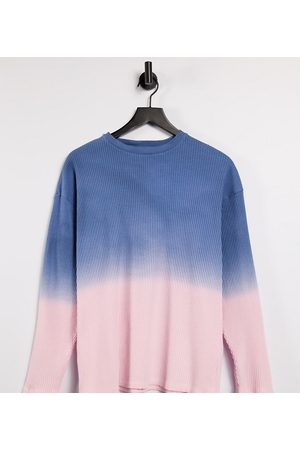COLLUSION Unisex oversized long sleeve ribbed T-shirt in ombre-Multi