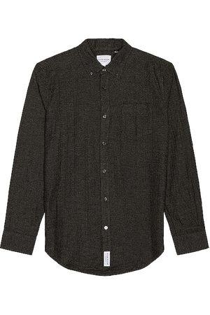 Five Four Hakuba Flannel Button Down Shirt in Charcoal.